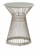 Lexington - Ariana Martini Round Accent Table In Platinum Finish Frame And Silver White Marble Top - 01-0732-950c