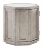 Lexington - Ariana Rochelle Octagonal Storage Table With Mirrored Top And Silver Leaf Finish - 01-0733-957
