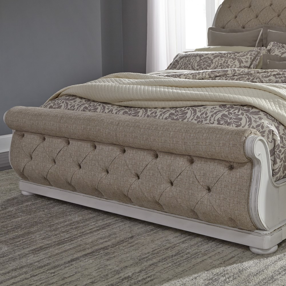 Liberty Furniture Abbey Park King Uph Sleigh Bed 520 Br Kusl