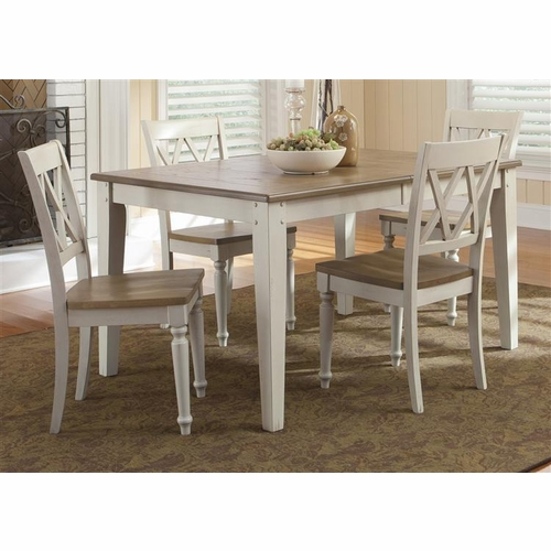 Liberty Furniture - Al Fresco III Opt 5 Piece Rectangular Table Set  - 841-CD-O5RLS