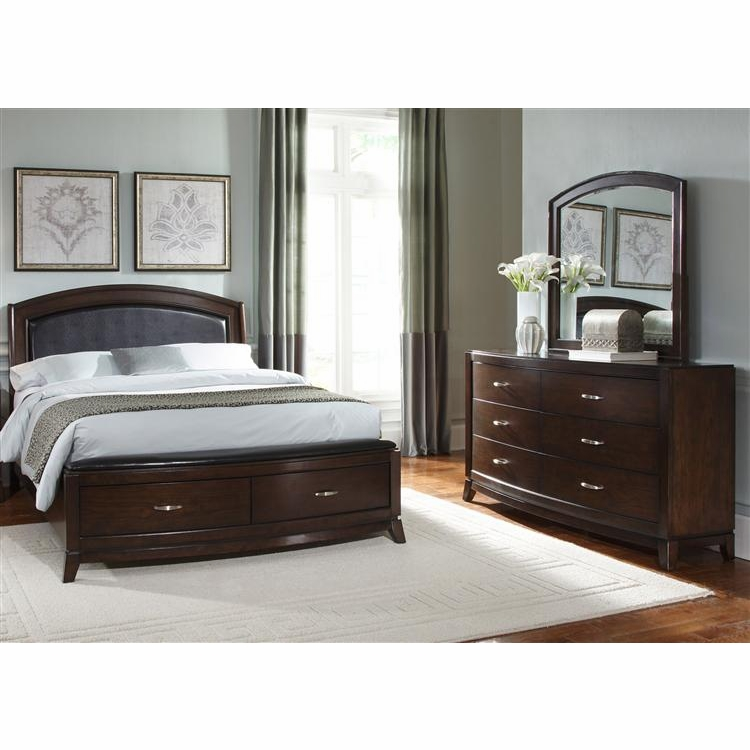 Liberty Furniture - Avalon 3 Piece King Storage Bed, Dresser & Mirror Set - 505-BR-KSBDM