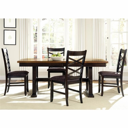 Liberty Furniture - Bistro II 5 Piece Trestle Table Set  - 74-CD-5TRS