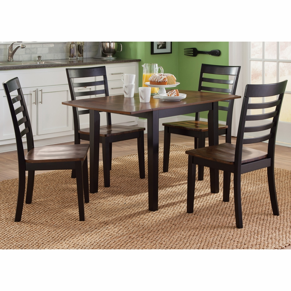 Silver Dining Table And Chairs, Liberty Furniture Cafe 5 Piece Drop Leaf Set 56 Cd 5dls