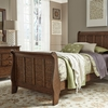 Liberty Furniture - Grandpas Cabin 3 Piece Full Sleigh Bed, Dresser & Mirror Set - 375-YBR-FSLDM