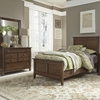 Liberty Furniture - Grandpas Cabin 3 Piece Twin Panel Bed, Dresser & Mirror Set - 375-YBR-TPBDM