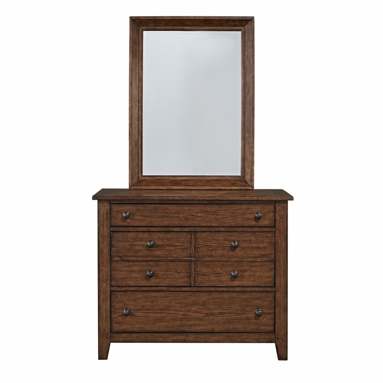 Liberty Furniture - Grandpas Cabin Dresser & Mirror  - 375-YBR-DM