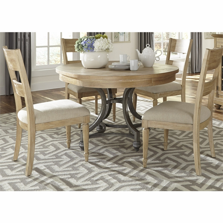 Liberty Furniture - Harbor View 5 Piece Round Table Set  - 531-DR-5ROS
