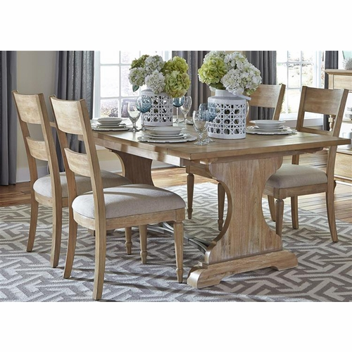 Liberty Furniture - Harbor View 5 Piece Trestle Table Set  - 531-DR-5TRS