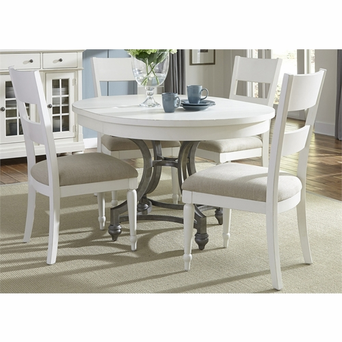 Liberty Furniture - Harbor View II 5 Piece Round Table Set  - 631-DR-5ROS