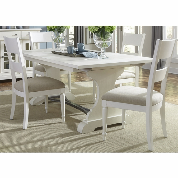 Liberty Furniture - Harbor View II 5 Piece Trestle Table Set  - 631-DR-5TRS