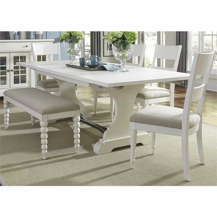 Liberty Furniture - Harbor View II 6 Piece Trestle Table Set  - 631-DR-6TRS