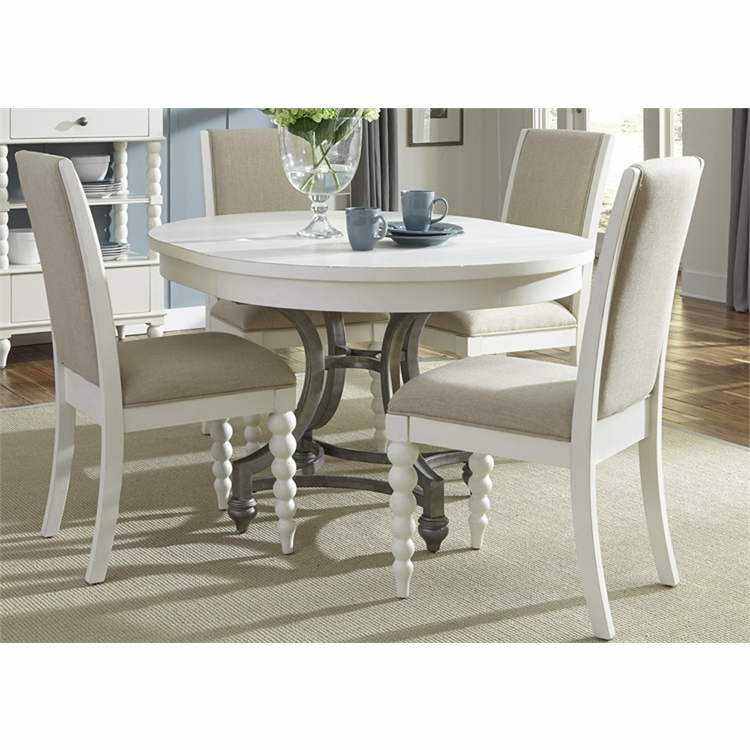 Liberty Furniture - Harbor View II Opt 5 Piece Round Table Set  - 631-DR-O5ROS