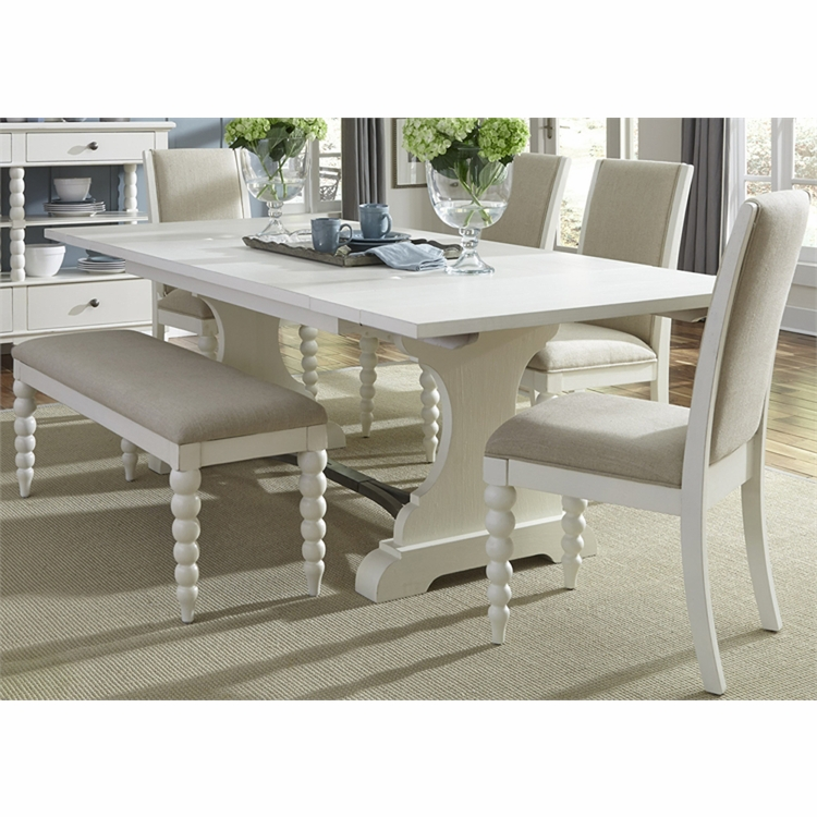 Liberty Furniture - Harbor View II Opt 6 Piece Trestle Table Set  - 631-DR-O6TRS
