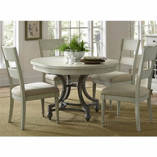 Liberty Furniture - Harbor View III 5 Piece Round Table Set  - 731-DR-5ROS