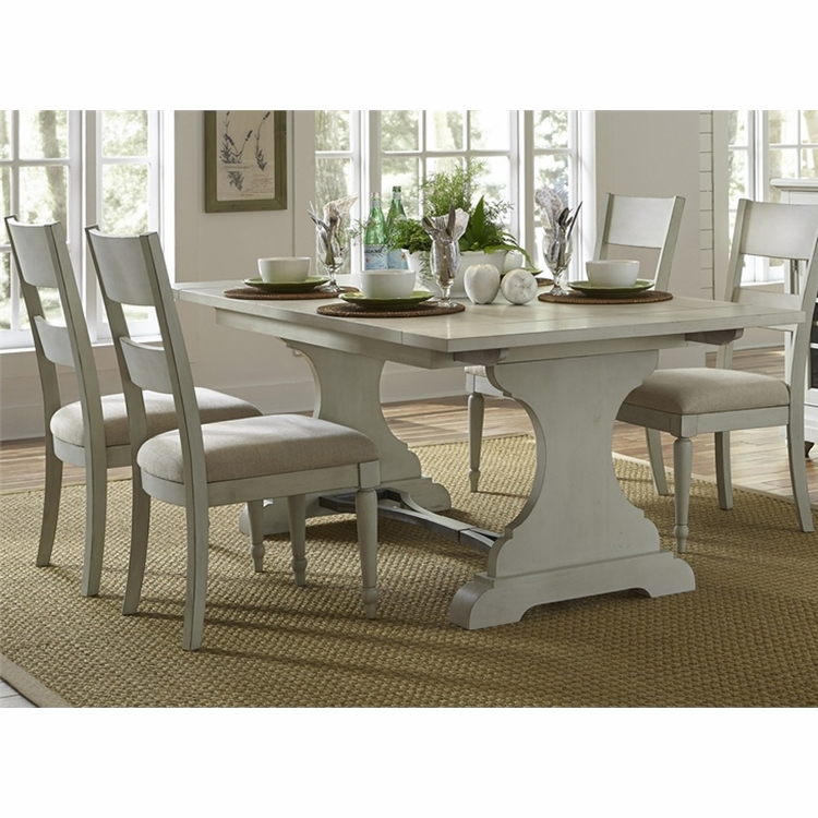 Liberty Furniture - Harbor View III 5 Piece Trestle Table Set  - 731-DR-5TRS