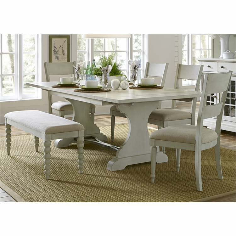 Liberty Furniture - Harbor View III 6 Piece Trestle Table Set  - 731-DR-6TRS