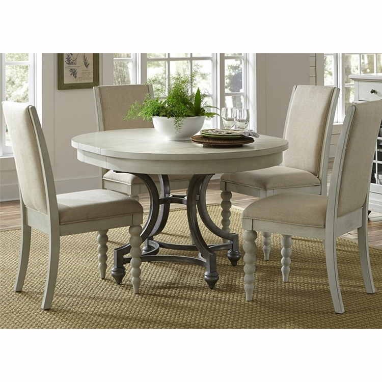 Liberty Furniture - Harbor View III Opt 5 Piece Round Table Set  - 731-DR-O5ROS