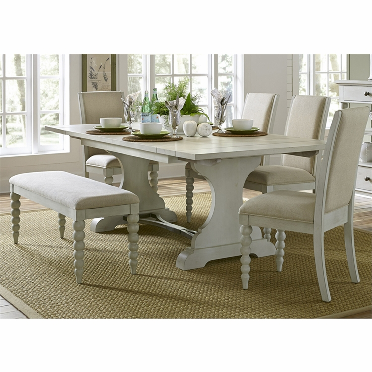 Liberty Furniture - Harbor View III Opt 6 Piece Trestle Table Set  - 731-DR-O6TRS