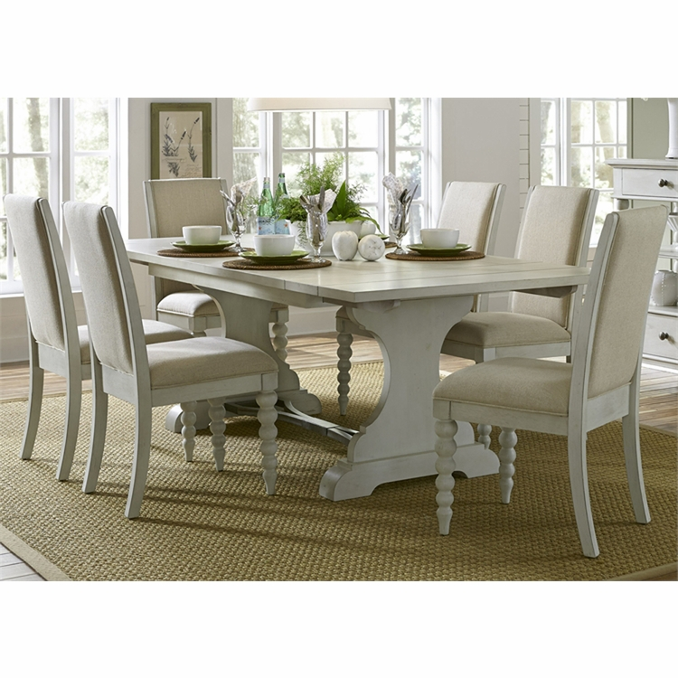 Liberty Furniture - Harbor View III Opt 7 Piece Trestle Table Set  - 731-DR-O7TRS