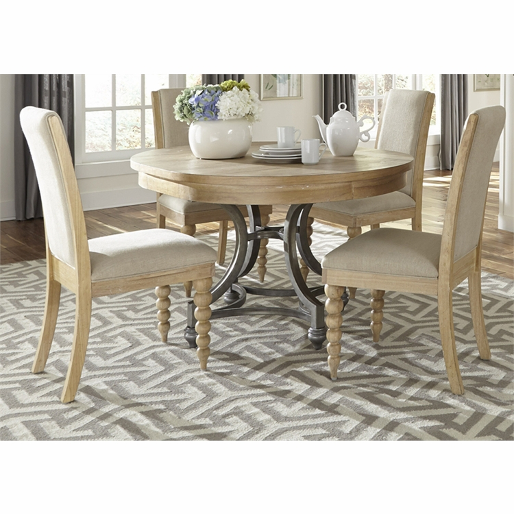 Liberty Furniture - Harbor View Opt 5 Piece Round Table Set  - 531-DR-O5ROS