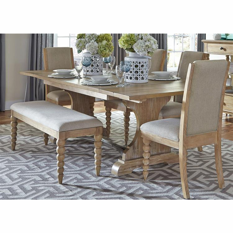 Liberty Furniture - Harbor View Opt 6 Piece Trestle Table Set  - 531-DR-O6TRS