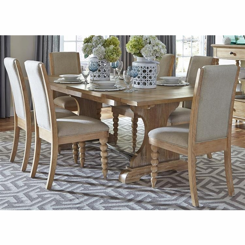Liberty Furniture - Harbor View Opt 7 Piece Trestle Table Set  - 531-DR-O7TRS