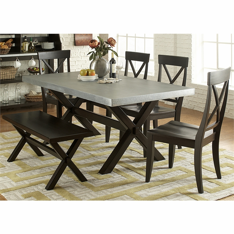 Liberty Furniture - Keaton II 6 Piece Trestle Table Set  - 219-CD-6TRS