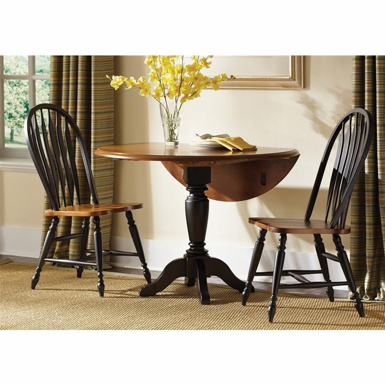 Liberty Furniture - Low Country 3 Piece Drop Leaf Pedestal Table Set In Anchor Black - 80-CD-3DLS