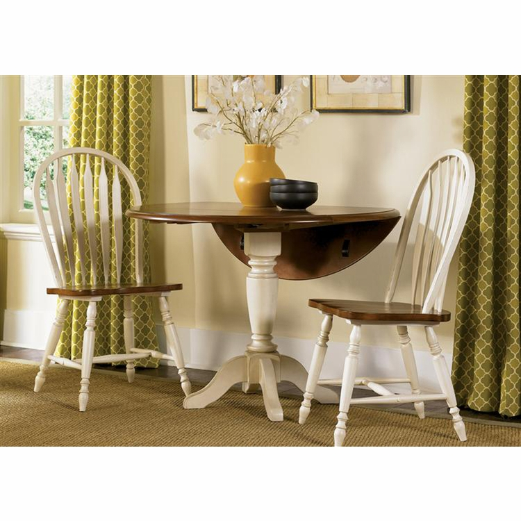 Liberty Furniture - Low Country 3 Piece Drop Leaf Pedestal Table Set In Linen Sand - 79-CD-3DLS