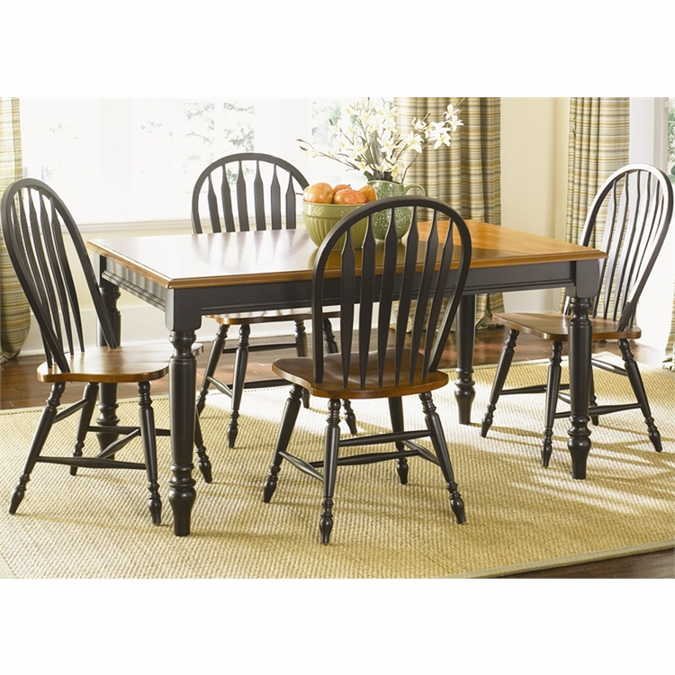 Liberty Furniture - Low Country 5 Piece Rectangular Table Set In Anchor Black - 80-CD-5RLS