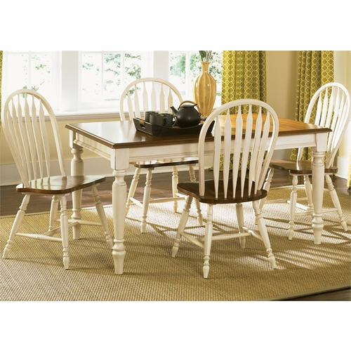 Liberty Furniture - Low Country 5 Piece Rectangular Table Set In Linen Sand - 79-CD-5RLS