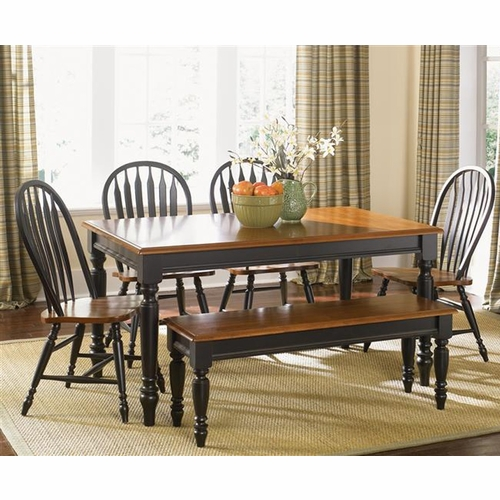 Liberty Furniture - Low Country 6 Piece Rectangular Table Set In Anchor Black - 80-CD-6RTS
