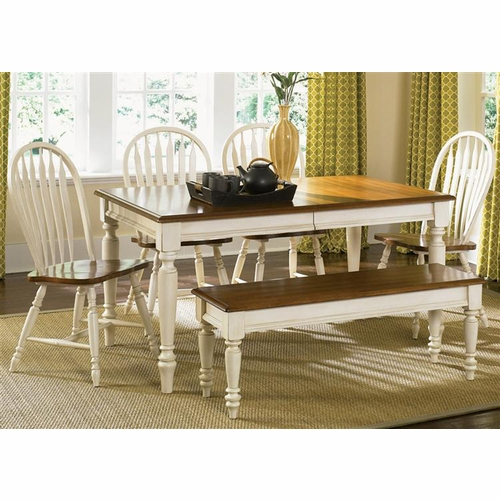 Liberty Furniture - Low Country 6 Piece Rectangular Table Set In Linen Sand - 79-CD-6RTS