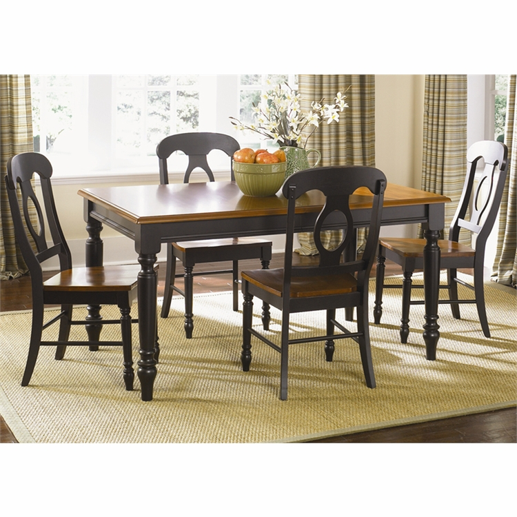 Liberty Furniture - Low Country Opt 5 Piece Rectangular Table Set In Anchor Black - 80-CD-O5RLS