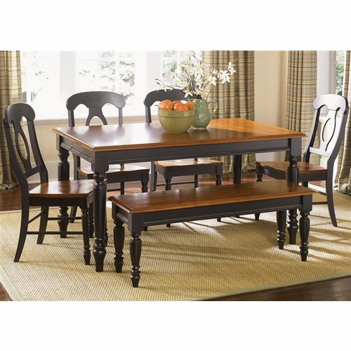 Liberty Furniture - Low Country Opt 6 Piece Rectangular Table Set In Anchor Black - 80-CD-O6RLS