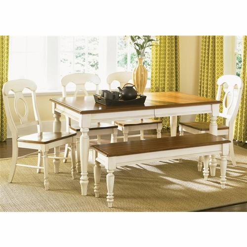 Liberty Furniture - Low Country Opt 6 Piece Rectangular Table Set In Linen Sand - 79-CD-O6RLS