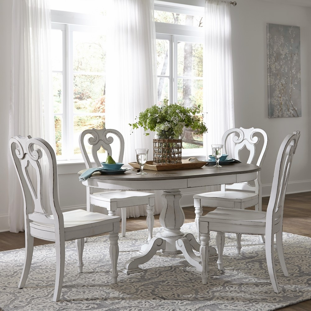 Liberty Furniture Magnolia Manor 5 Piece Pedestal Table