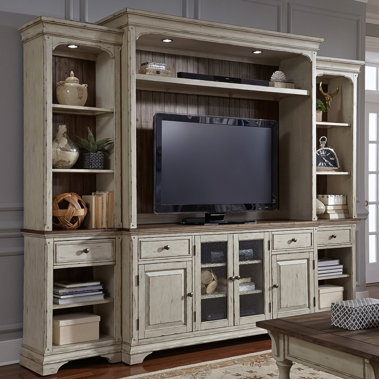 Liberty Furniture - Morgan Creek Entertainment Center with Piers  - 498-ENTW-ECP