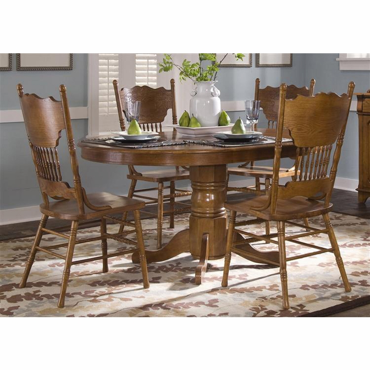Liberty Furniture - Nostalgia Opt 5 Piece Round Pedestal Table Set  - 10-CD-O5PCS