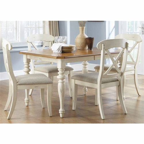 Liberty Furniture - Ocean Isle Opt 5 Piece Rectangular Table Set  - 303-CD-O5RLS