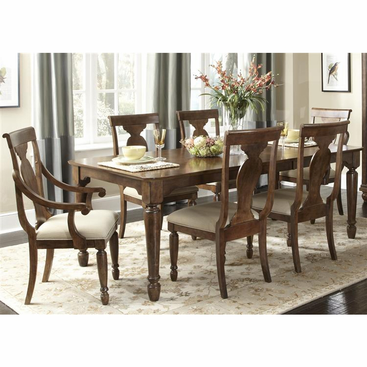 Liberty Furniture - Rustic Tradition 7 Piece Rectangular Table Set  - 589-DR-7RLS