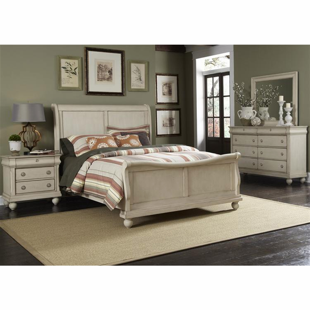 Liberty Furniture Rustic Traditions Ii 4 Piece King Sleigh Bed