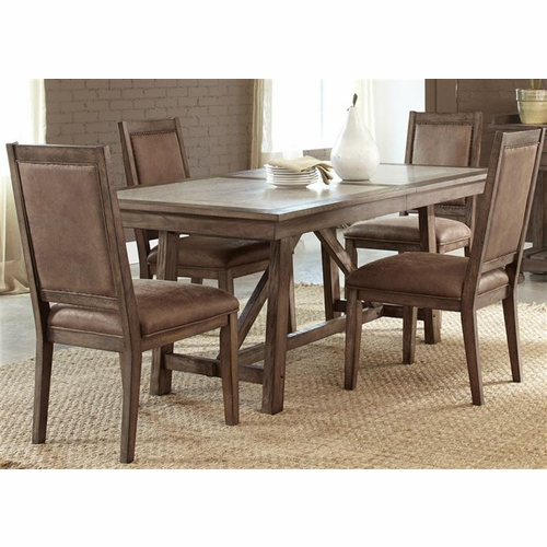 Liberty Furniture - Stone Brook 5 Piece Trestle Table Set  - 466-DR-5TRS