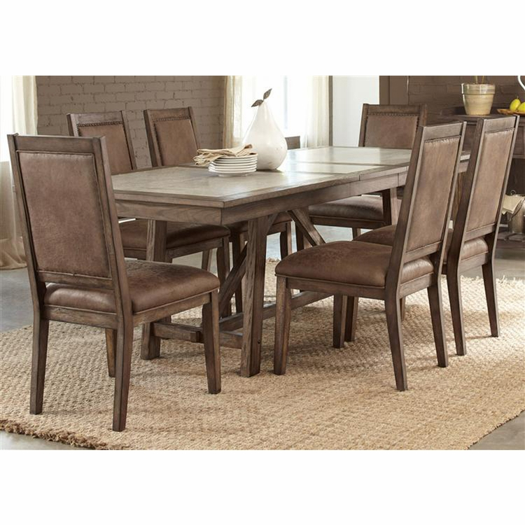 Liberty Furniture - Stone Brook 7 Piece Trestle Table Set  - 466-DR-7TRS