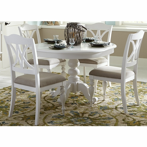 Liberty Furniture - Summer House I 5 Piece Pedestal Table Set - 607-CD-5PDS