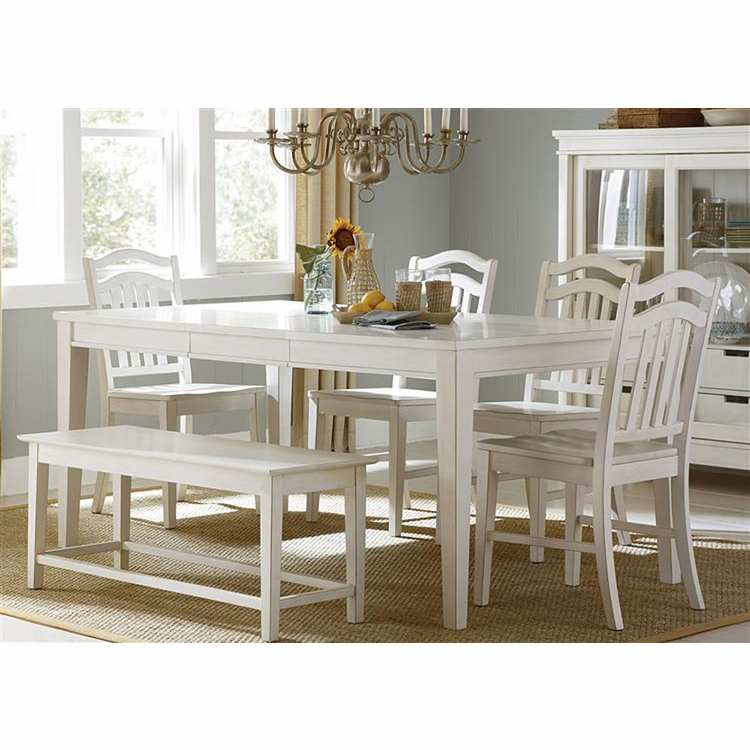 Liberty Furniture - Summerhill 6 Piece Rectangular Table Set  - 518-CD-6RTS