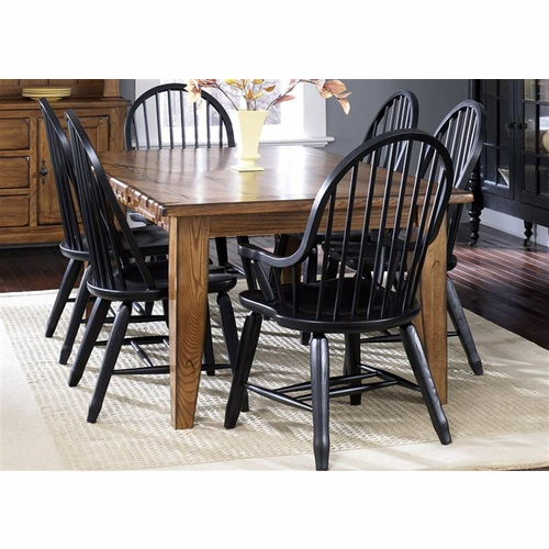 Liberty Furniture - Treasures Opt 7 Piece Rectangular Leg Table Set  - 17-DR-O7PCS
