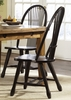 Liberty Furniture - Treasures Sheaf Back Side Chair In Black (Set of 2) - 17-C4032