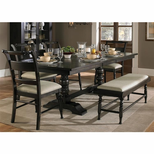 Liberty Furniture - Whitney 6 Piece Trestle Table Set  - 661-CD-6TRS