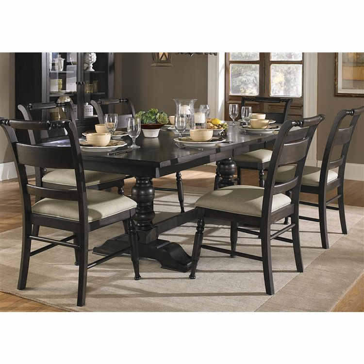 Liberty Furniture - Whitney 7 Piece Trestle Table Set  - 661-CD-7TRS